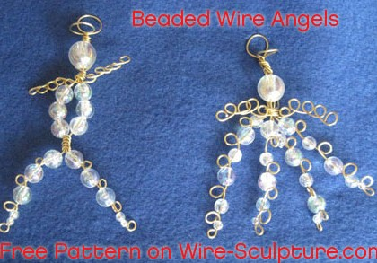 Beaded Wire Angels