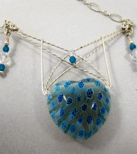 Finished Webbed Heart