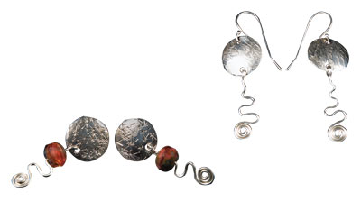 Earring Essentials teaches Soldered Earring Posts, texturing, Dapping, and wire work
