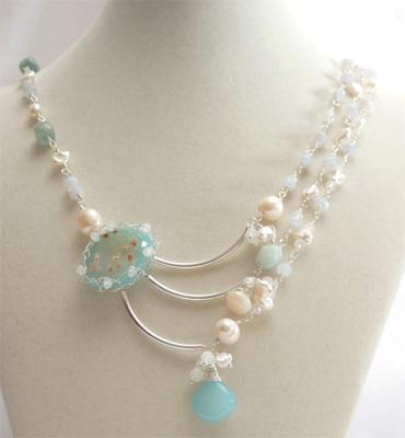Jelena Louie's druzy necklace