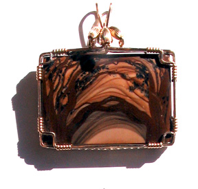 Wrapped Rectangle Cabochon