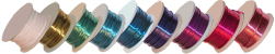 Rainbow of Silver Plated Copper Wire Spools