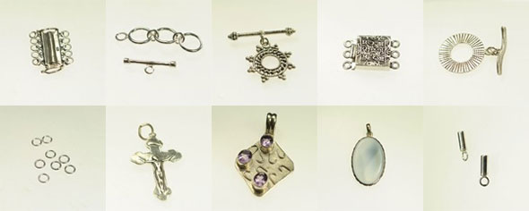 Sterling Silver Findings, beautifully shaped, but they won't last long.