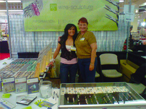 Dale and Shonnie after Setting up the Wire-Sculpture booth at JOGS!