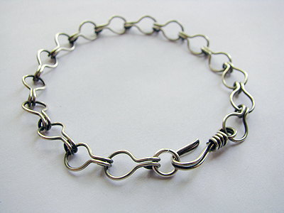 Silver Cotter Pin Link Bracelet by Albina Manning