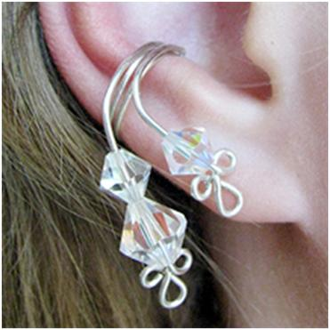 Crystal Ear Cuff A Free Wire Jewelry Pattern By Albina