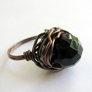 Quick Wired Bead Ring by Albina Manning