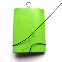 Netted Rectangle Bead Pendant