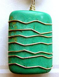 Netted Rectangle Bead Pendant