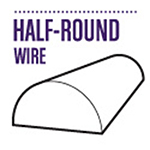 Shop Half Round Silver Plated Craft Wire