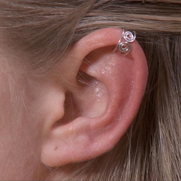 Double Spiral Ear Cuff