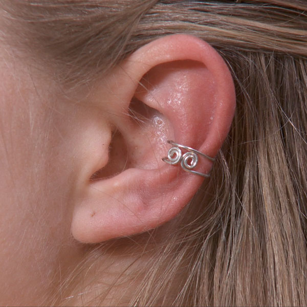 Ear Cuff with Double Spiral