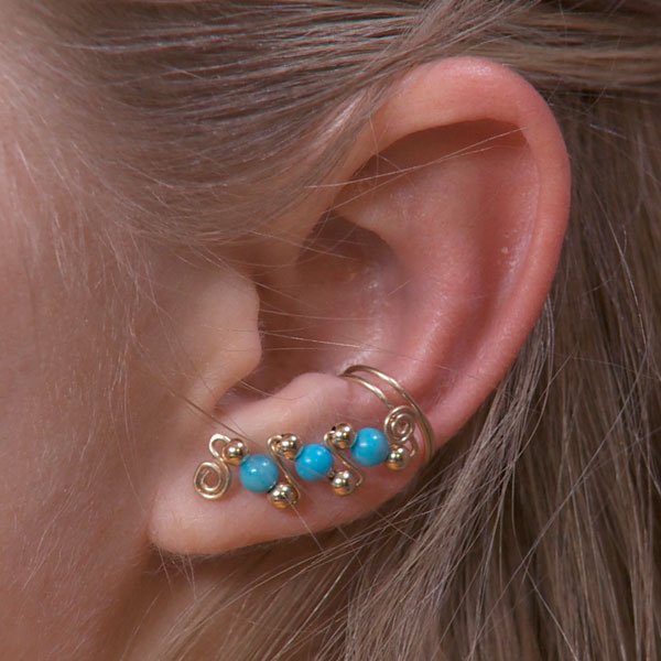 Three Bead Ear Cuffs