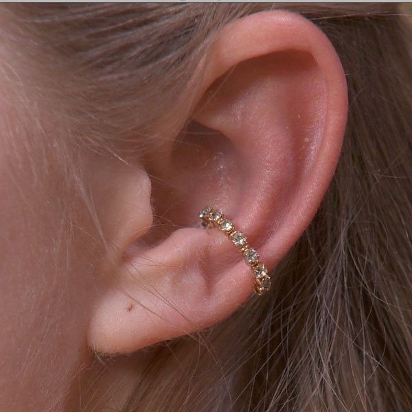 Single Band Sparkly Ear Cuff