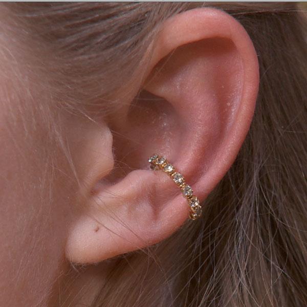 Single Band Sparkly Ear Cuff