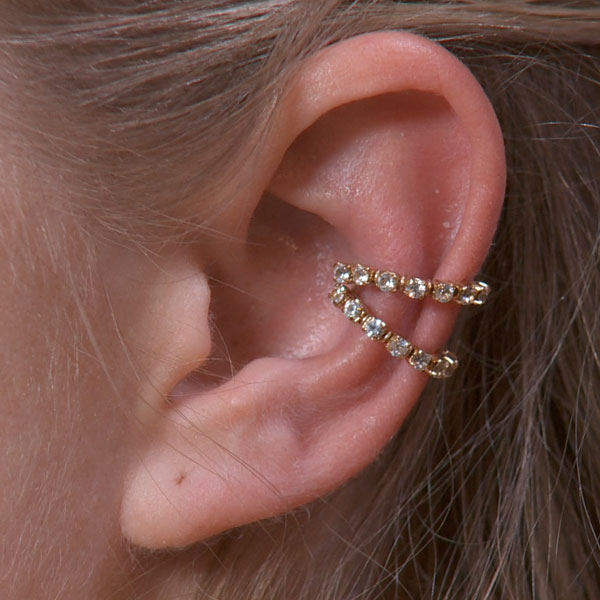 Double Band Sparkly Ear Cuff