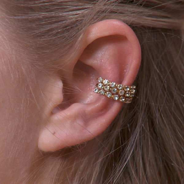 Triple Band Sparkly Ear Cuff