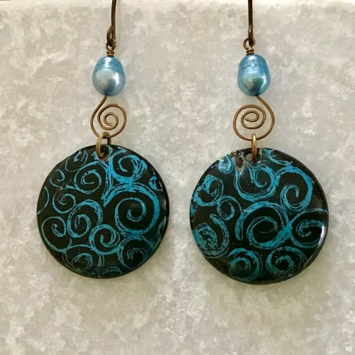 Color Inspiration - Brrrr Enamel Earrings