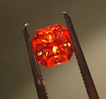 Judy Ellis's September Birthstone - Sapphire - , General Education, Design, , Faceted padparadscha