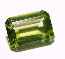 Judy Ellis's August Birthstone - Peridot and Sardonyx - , General Education, Design, , Olive Green Rectangle Peridot