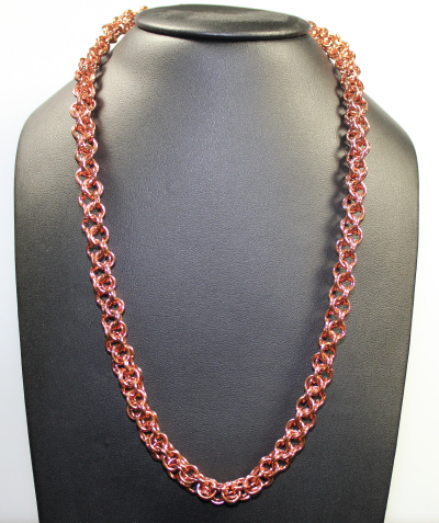 Judy Ellis's The Art of Creating Chainmail - , Chain Maille Jewelry, Making Chain, Chain Making , Design, , Copper chainmail necklace