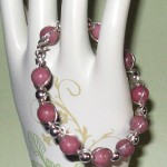 Judy Ellis's Gem Profile- Rhodonite - , General Education, , Rhodonite and sterling silver bead bracelet