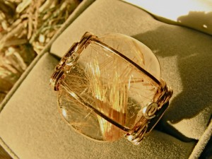 Judy Ellis's Gem Profile- Rutilated Quartz - , General Education, , Golden Rutilated Quartz Cab