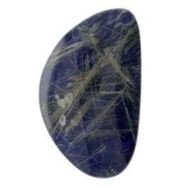 Judy Ellis's Gem Profile- Rutilated Quartz - , General Education, , Rutilated Lapis cab