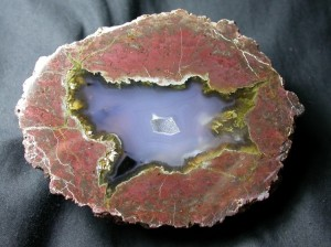 Judy Ellis's Gem Profile- Thundereggs and Mexican Lace Agate - , General Education, , This Thunderegg is from the Black Rock Desert in Nevada