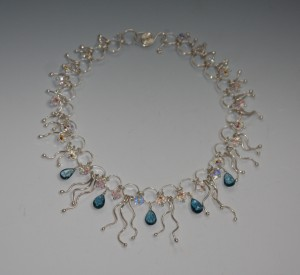 Judy Ellis's Gem Profile- Blue Topaz - , General Education, , Waterfall topaz and fine silver necklace