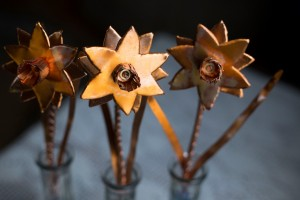 Judy Ellis's Copper Roses - , Inspiration, Design, copper flowers