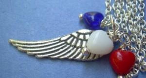 Judy Ellis's Remembering the Fallen - , Inspiration, Beads, Wing necklace