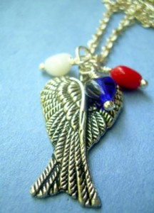 Judy Ellis's Remembering the Fallen - , Inspiration, Beads, 2 wing necklace