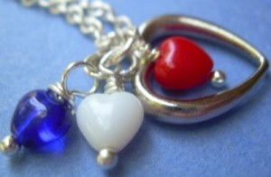 Judy Ellis's Remembering the Fallen - , Inspiration, Beads, Heart necklace