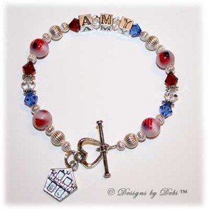 Judy Ellis's Remembering the Fallen - , Inspiration, Beads, Personalized Patriotic Bracelet