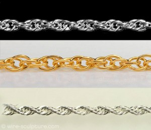 Judy Ellis's About Jewelry Chain- Wheat Chain and Rope Chain - , General Education, Design, Rope Chain