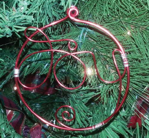 Judy Ellis's Wire Wrapped Christmas Tree - , Inspiration, Wire Wrapping, Wrapping, Wire Wrapping Jewelry, Design, Joy Ornament