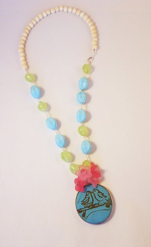 Debbie Blair's Color Inspiration - Welcome Spring - , Wire Jewelry Design, Design, welcome spring necklace