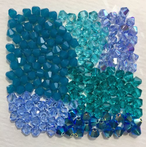 Kristal Wick's Color Creativity - , Wire Jewelry Design, Design, shades of blue
