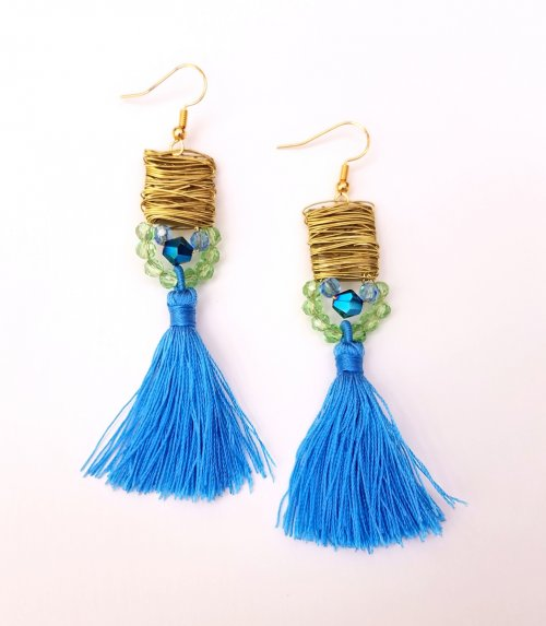 Debbie Blair's Color Inspiration - Mountain Lake - , Wire Jewelry Design, Design, earrings