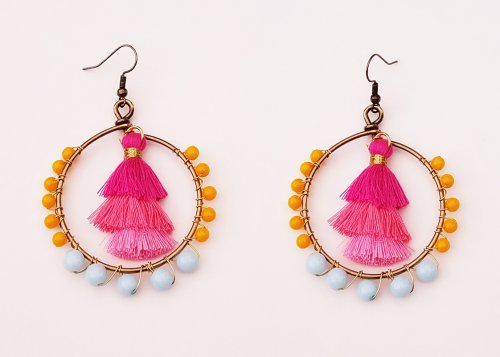 Debbie Blair's Color Inspiration - Sunset on the Lake - , Wire Jewelry Design, Design, sunset earrings