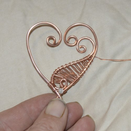Deborah Kelly's Wire Heart Pendant with Woven Elements - , Wire Weaving, Weaving, Wire Weaving, Weaving Wire, heart pendant