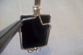 Joe Rushing's TomBoy Onyx Necklace with Earrings - , Classic Wire Jewelry, Wire Wrapping, Wrapping, Wire Wrapping Jewelry,