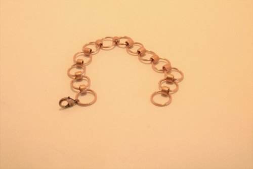 Judy Freyer Thompson's Double Wire Link Chain Bracelet - , Contemporary Wire Jewelry, Making Chain, Chain Making , Butane Torch, Soldering, Solder, Double chain wire link bracelet