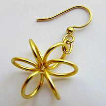 Albina Manning's Spring Flower Earrings - , Classic Wire Jewelry, Wire Wrapping, Wrapping, Wire Wrapping Jewelry,