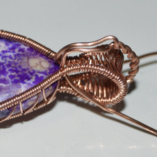 Deborah Kelly's Side Crossover Pendant - , Wire Weaving, Weaving, Wire Weaving, Weaving Wire, side crossover pendant