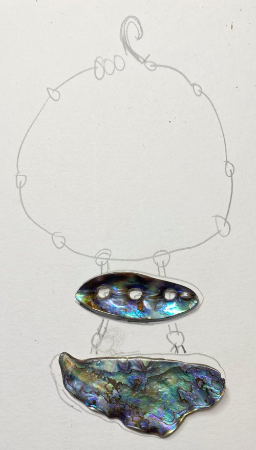 Susan LeGuyader's The Shell Game Necklace - , Contemporary Wire Jewelry, Loops, Wire Loop, Wrapped Wire Loop, Design, the shell game necklace
