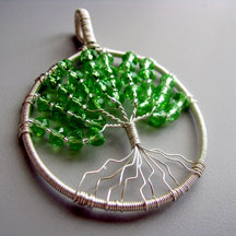 Albina Manning's Tree of Life - , Contemporary Wire Jewelry, Coiling, Coiling Wire, Wire Coiling,