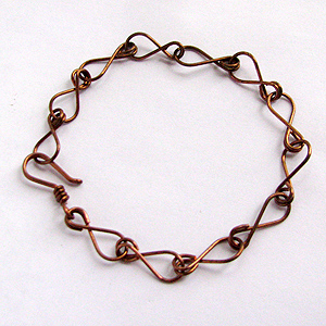 Albina Manning's Eight Chain Bracelet - , Contemporary Wire Jewelry, Making Chain, Chain Making , Finished piece.