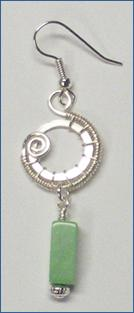 Judy Larson's Snail Trail Spiral Earrings - , Contemporary Wire Jewelry, Wire Wrapping, Wrapping, Wire Wrapping Jewelry, Weaving, Wire Weaving, Weaving Wire, Trimming wire.
